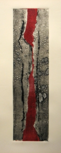 black and red collagraph 1