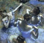 Blue Dancers by Degas